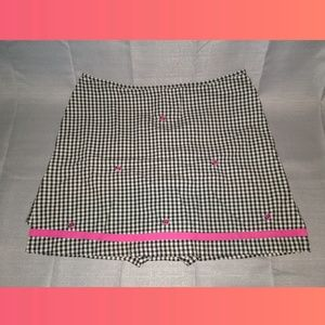 👉🆑BAMBOO TRADERS gingham skirt w/ladybugs